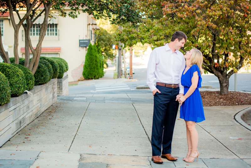 Just engaged couple in downtown huntsville