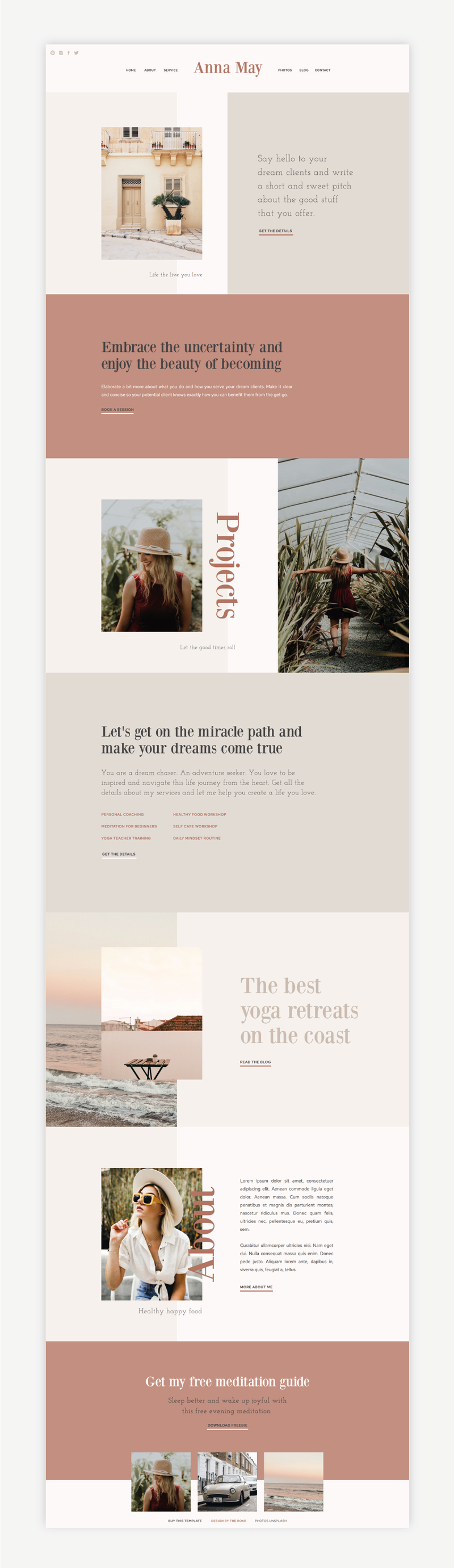 The Roar Showit Web Design Website Template Anna May Shop
