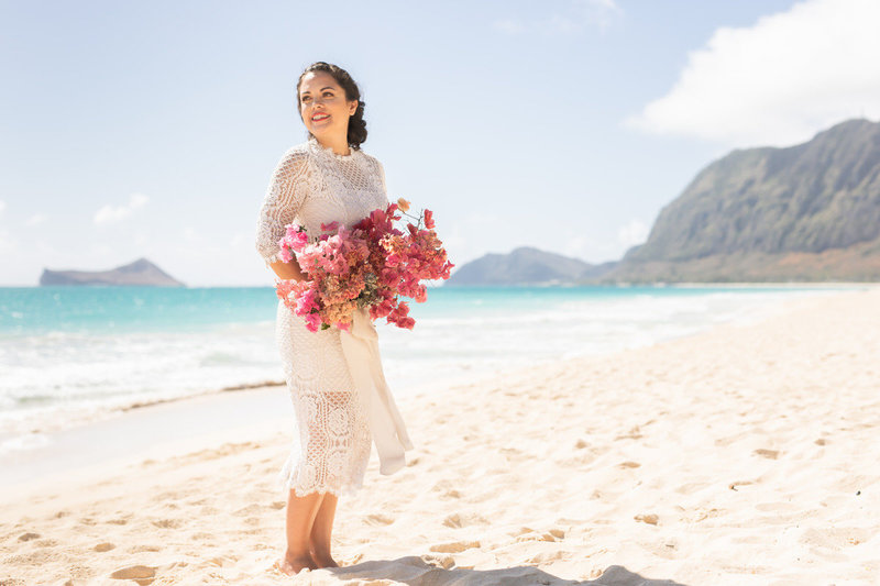 Beautiful Maui beach wedding venue Po'olenalena Beach