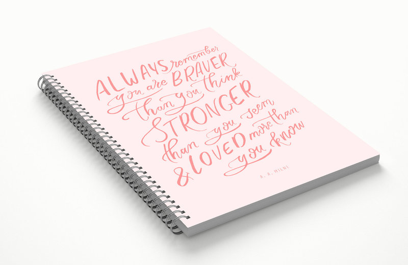 always remember winnie the pooh quote notebook front