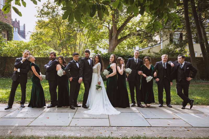 NJ Wedding Photos with Bridal Party
