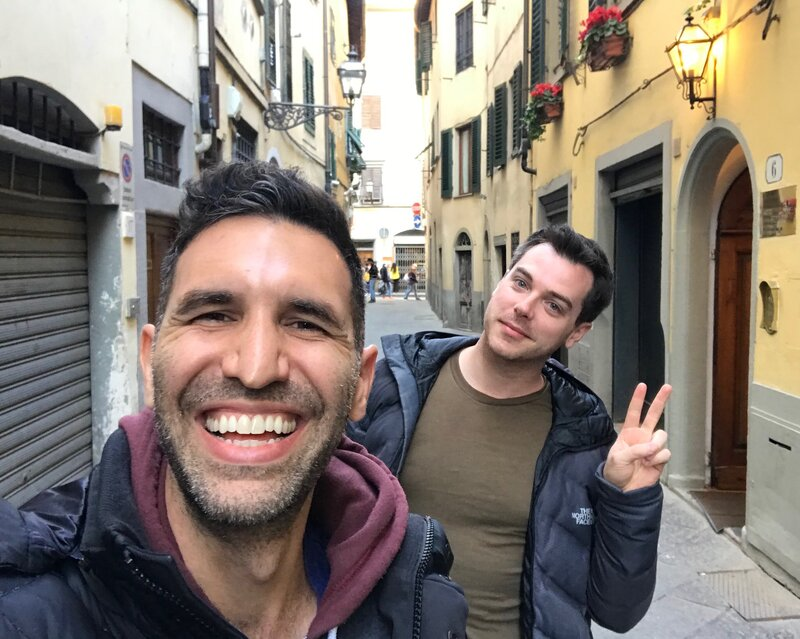 David Perlman - David and Trey in Florence