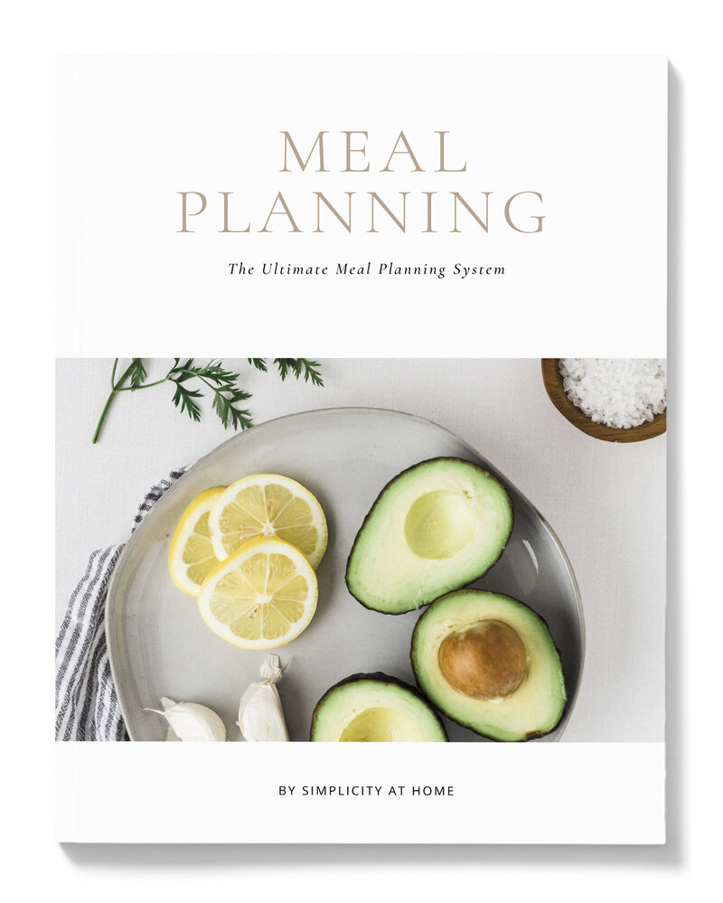 Meal Planning listing - wht bkground