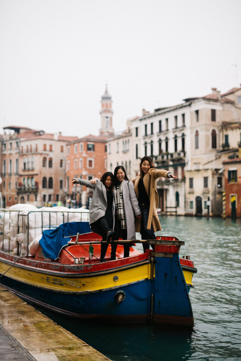 A girl's trip in Venice, Italy