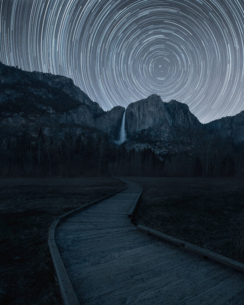 Yosemite star trails.