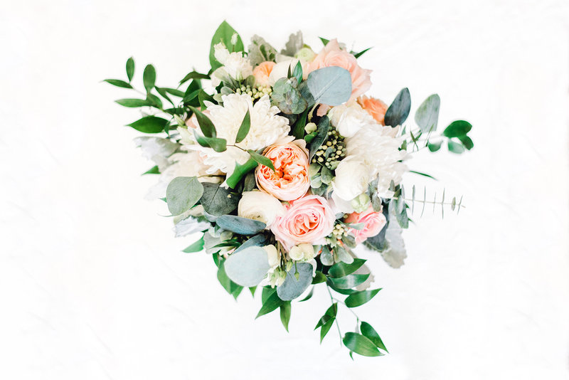 bridal bouquet on white background