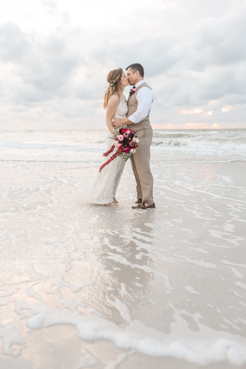 Bride and Groom sunset photos on Clearwater Beach