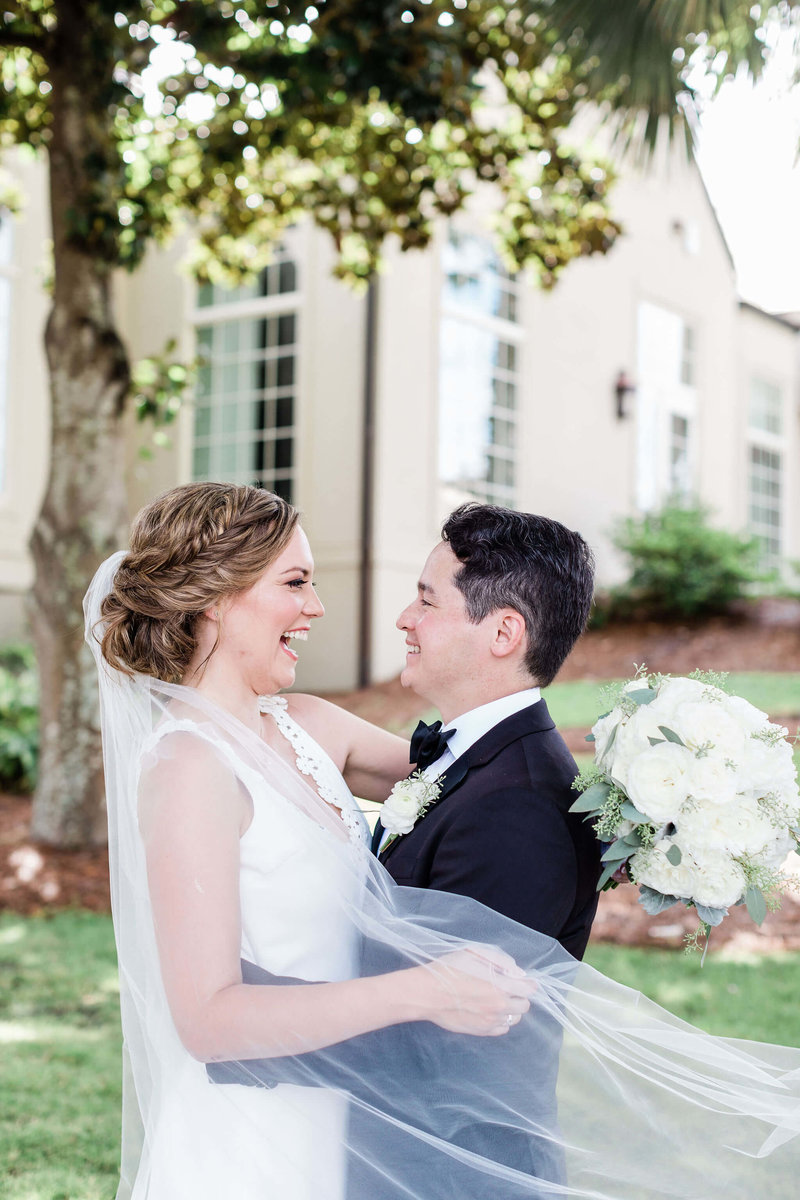 Bride and groom portraits at Wexford Plantation by Apt. B Photography