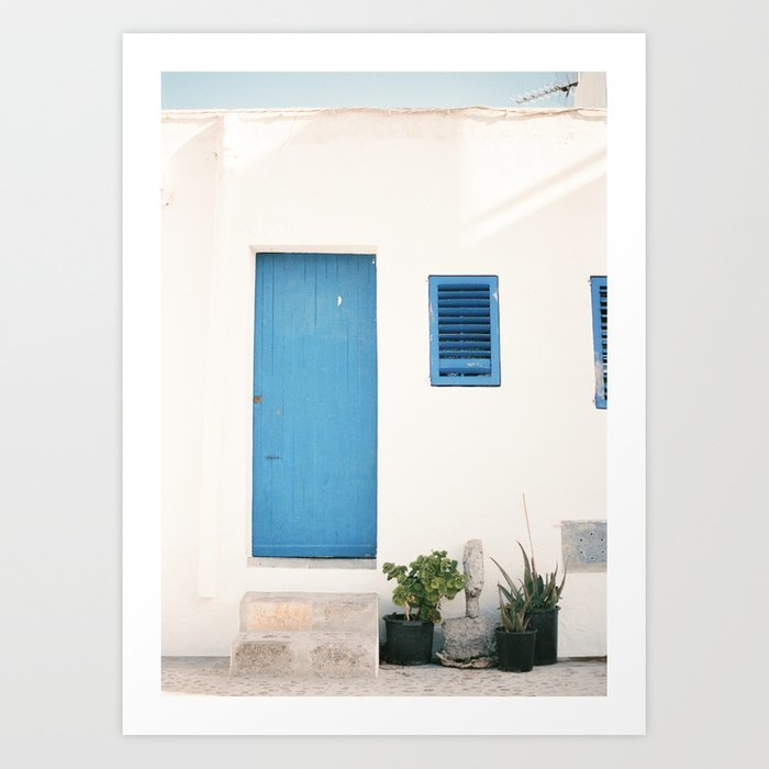 travel-photography-print-ibiza-blue-and-white-photo-art-made-in-the-old-town-of-eivissa-ibiza-prints