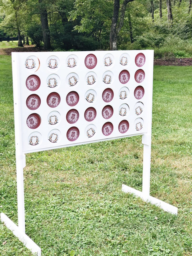 wedding-crest-Connect-4-yard-game-The-Welcoming-District