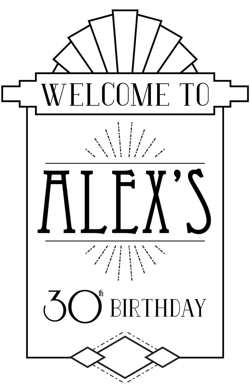 Alex Russell 30th Bday Party - 0 - Decal