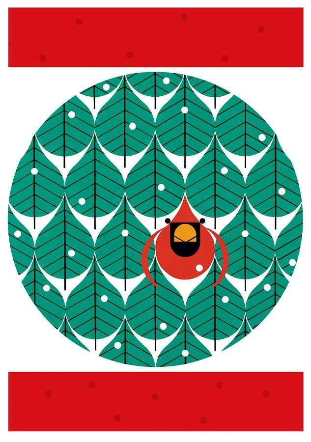 Perfect Christmas Card by Charley Harper