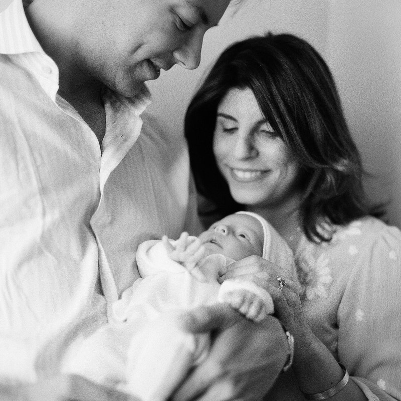 Pittsburgh In Home Black and White Film Newborn Photography by Tiffany Farley