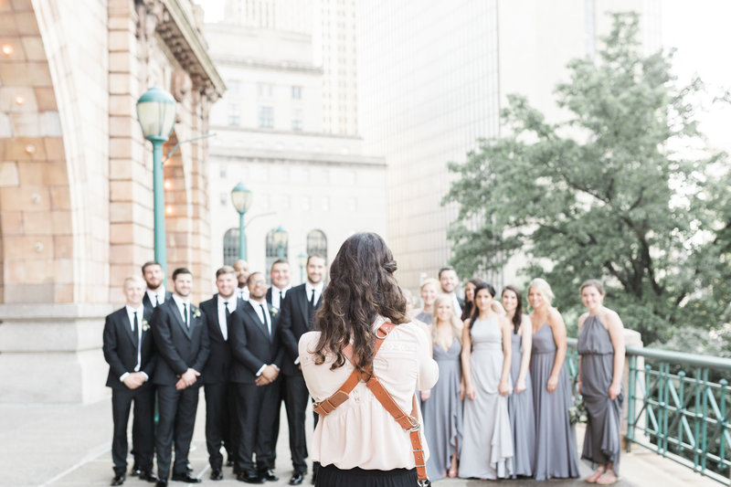 Wedding Photographer with camera Pittsburgh