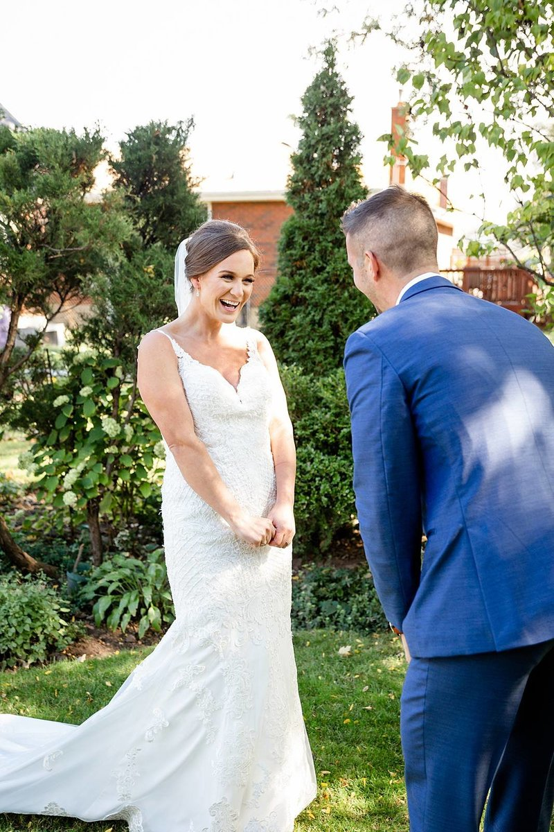 Groom is speechless when he sees his bride during their first look