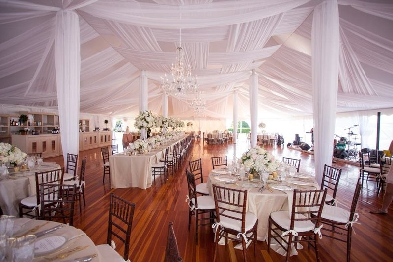 Tented wedding at The Eisenhower House in Newport, RI