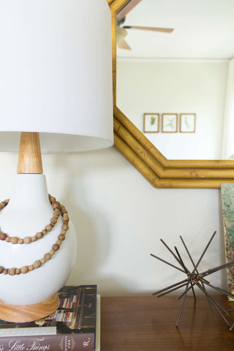 Midcentury modern style bedroom lamp