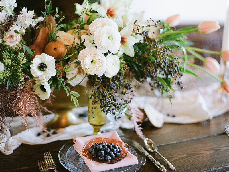 Wedding centerpiece for destination wedding in Italian villa