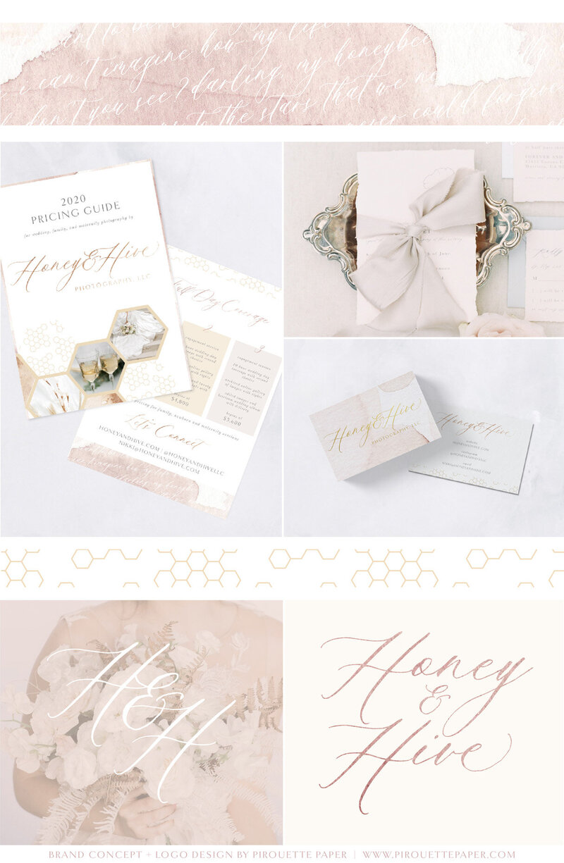 pirouettepaper.com | Logo Design + Branding | Pirouette Paper Company | Honey and Hive Fine Art Wedding Photography in Orange County, CA 06
