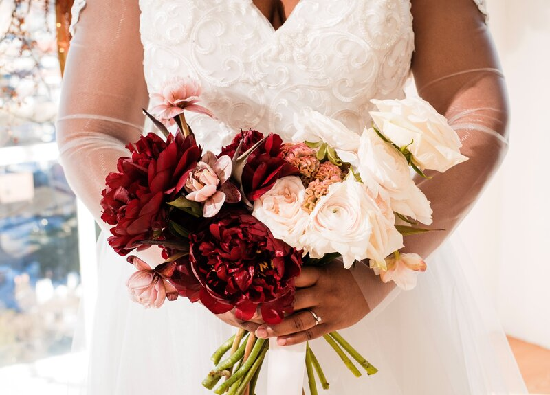 Simple Intimate Wedding bridal bouquet