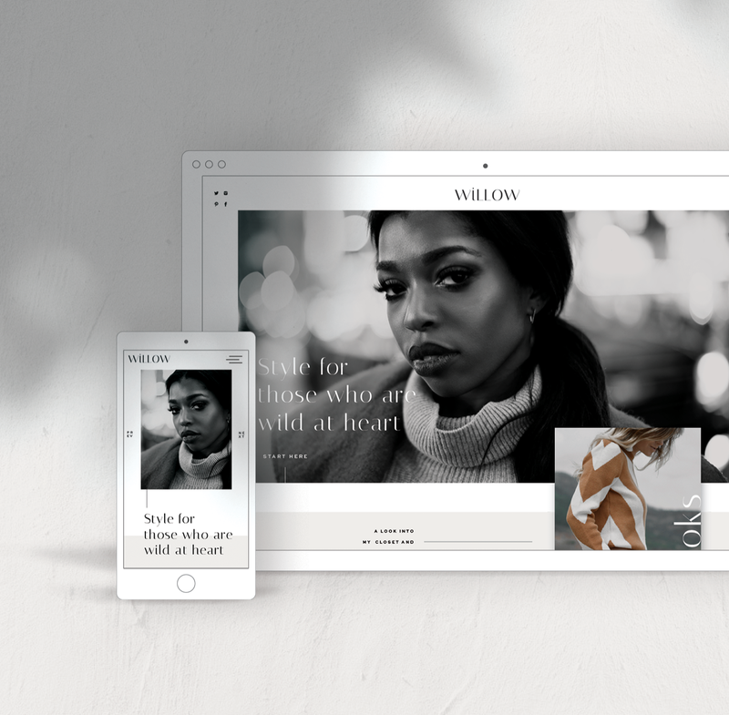 Modern and Stylish Website Templates for Showit and Fashion Bloggers