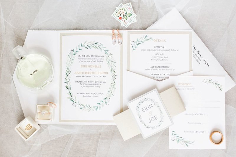 Wedding Invitations at Botanical Gardens