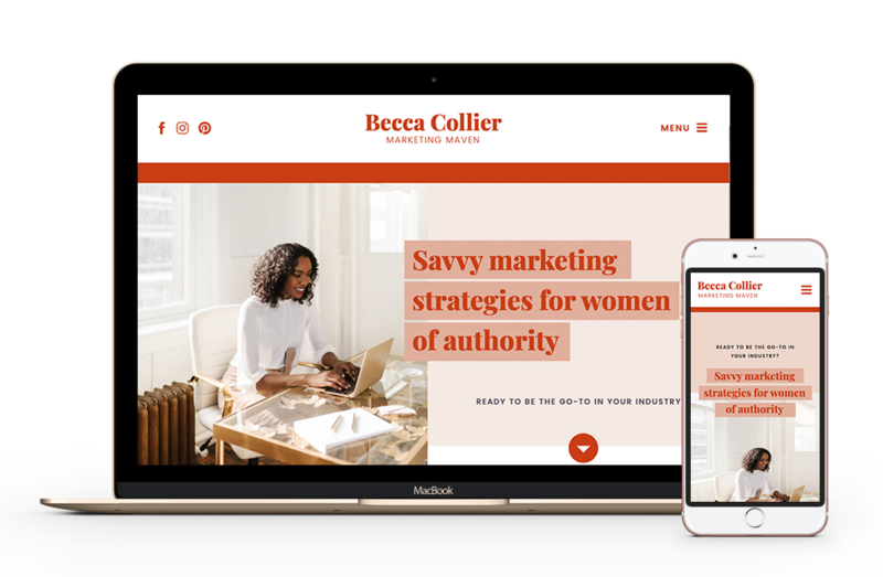 Becca Showit Website Template for Podcasters, Digital Marketers and Content Creators