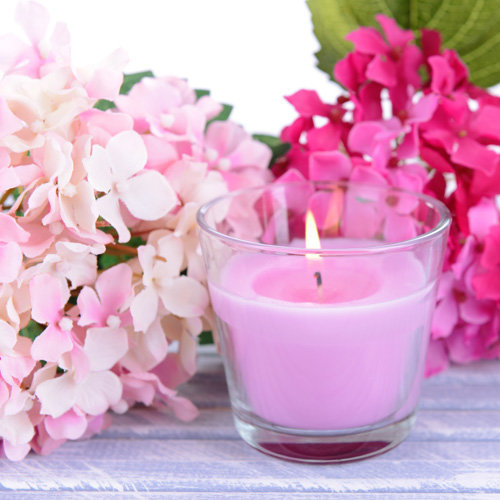 pink soy container candle course