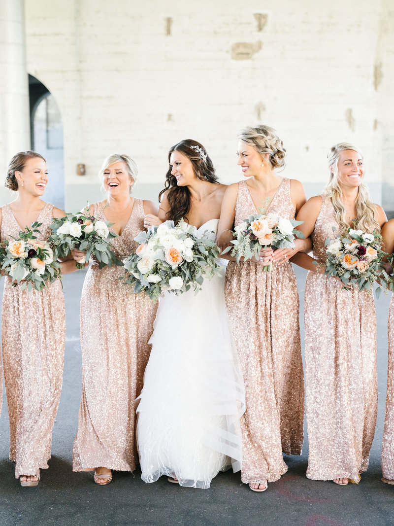 Minneapolis-Event-Centers-Sequin-Bridesmaid-Dresses-Wedding