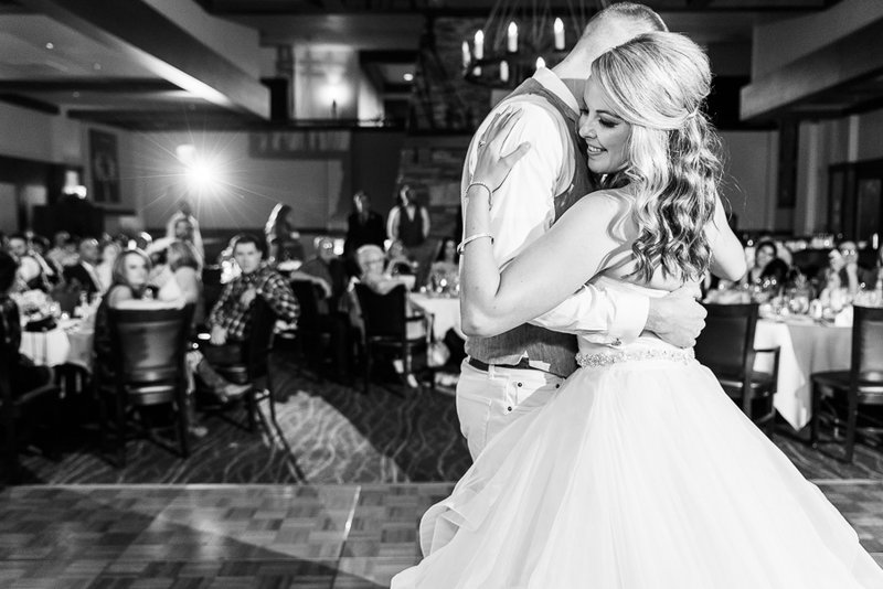 The Lodge at Ventana Canyon Wedding Reception Photo of Bride and Groom's First Dance | Tucson Wedding Photographer | West End Photography