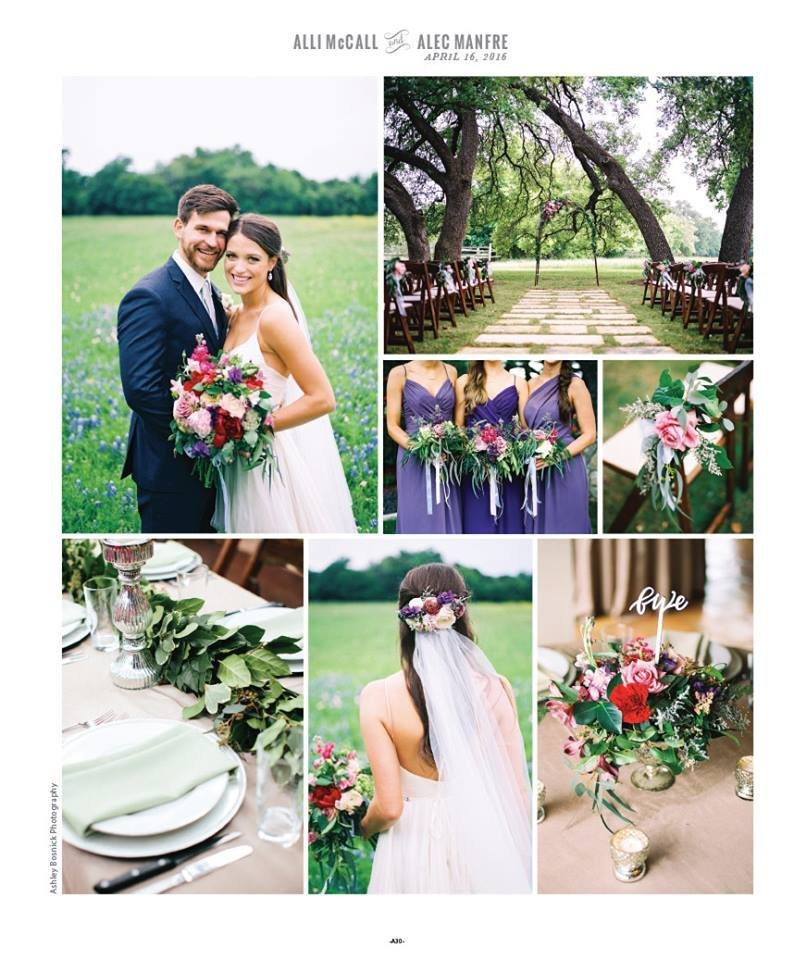 hill country blush and white wedding