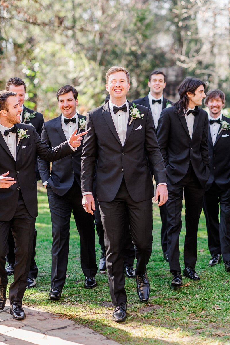 groomsmen in tuxedos by Knoxville Wedding Photographer, Amanda May Photos