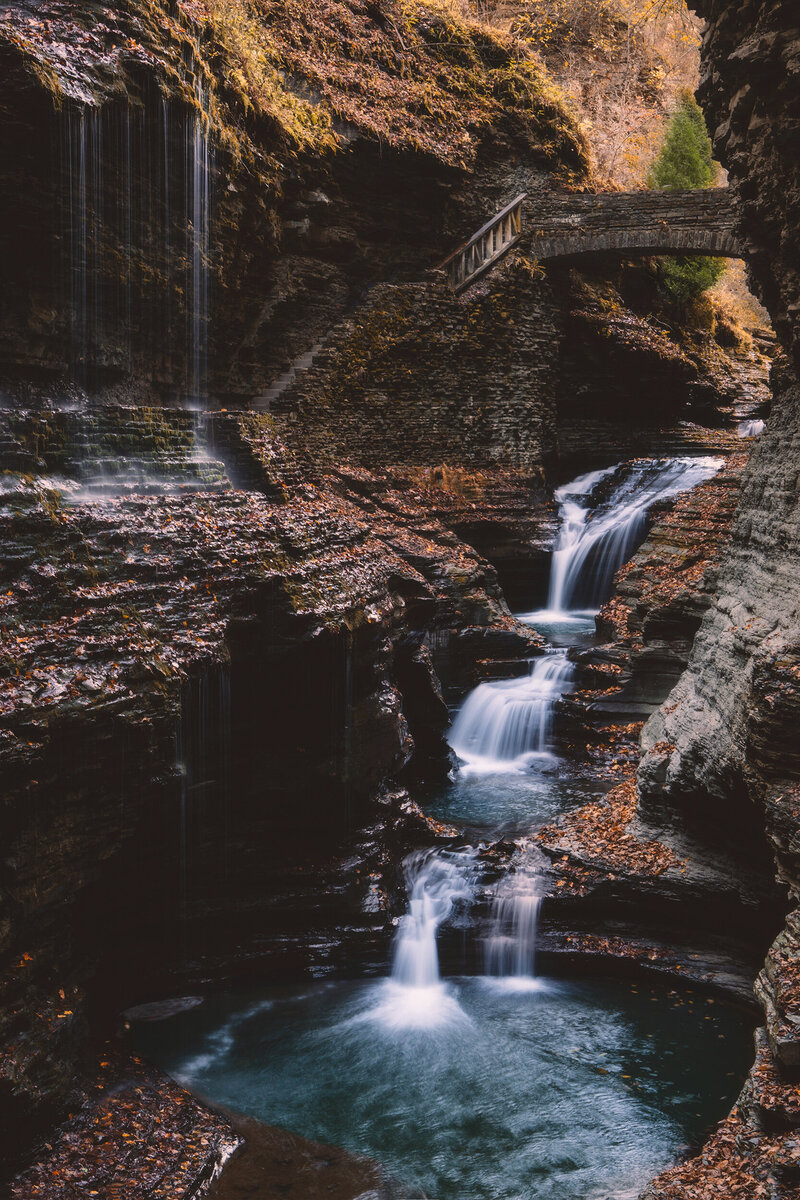 Waterfall at Watkins Glen.