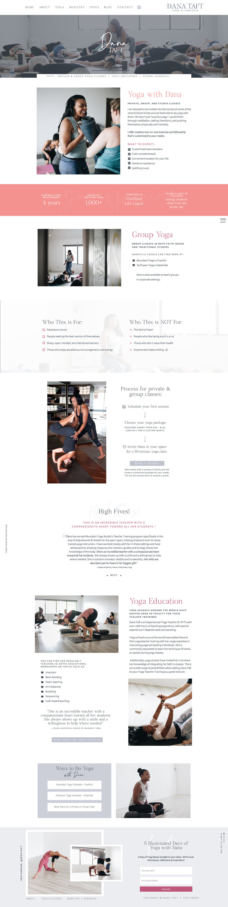 Dana Taft - Branding and Website Design by Elizabeth McCravy - Yoga Teacher Branding2