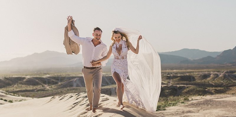 International Destination Elopement Las Vegas Sand Dunes