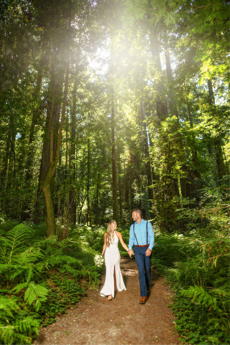 Gorgeous couple in the Redwoods in Northern California by Parky's Pics Photography