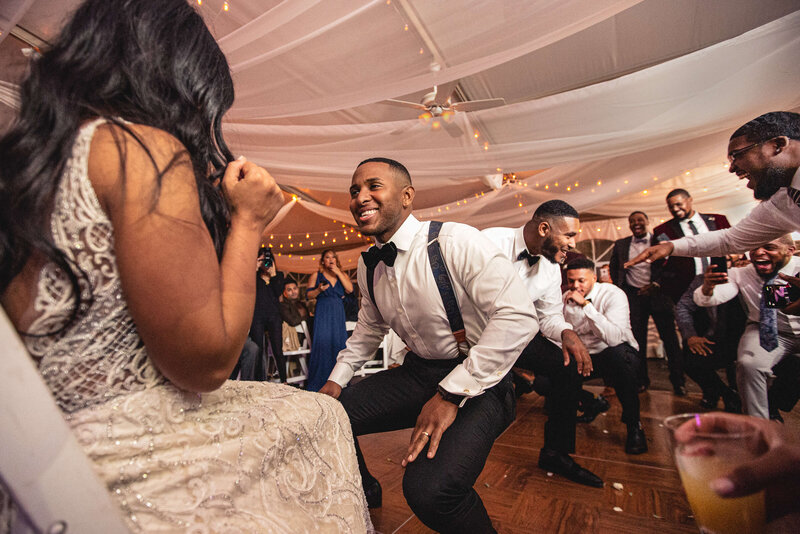 Couple laughing and dancing at Philadelphia Wedding Reception