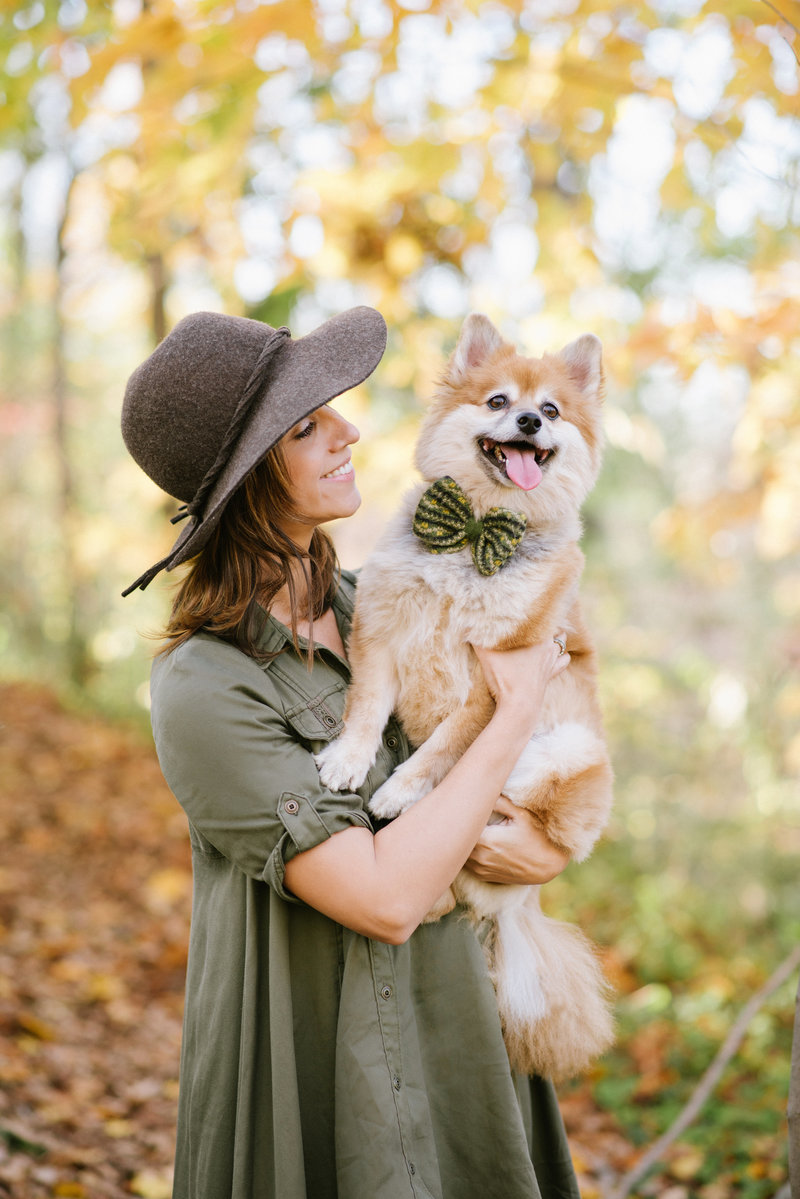 NJ wedding photographer Kate Connolly Testa with her dog Dexter
