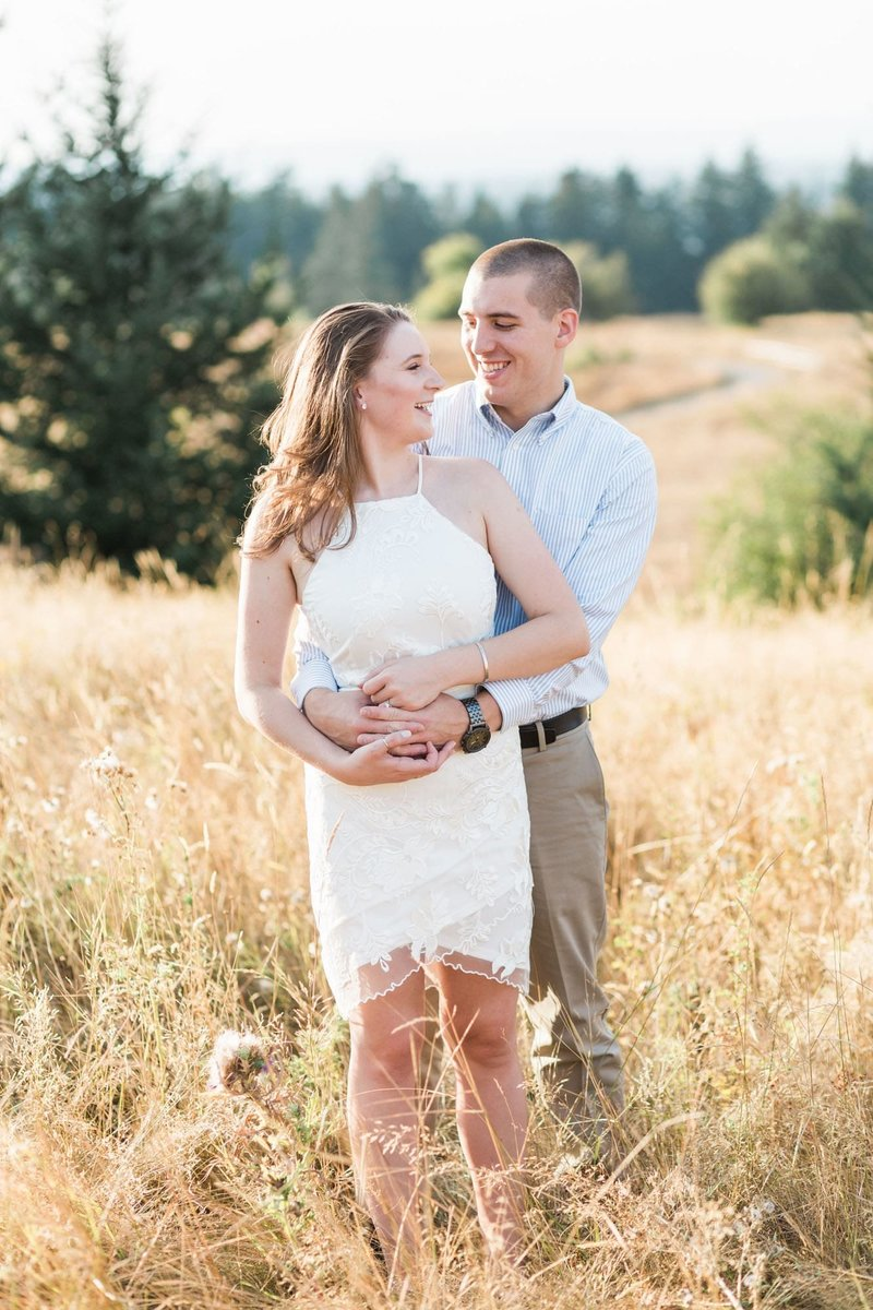 Engagement photos at Powell Butte in Portland