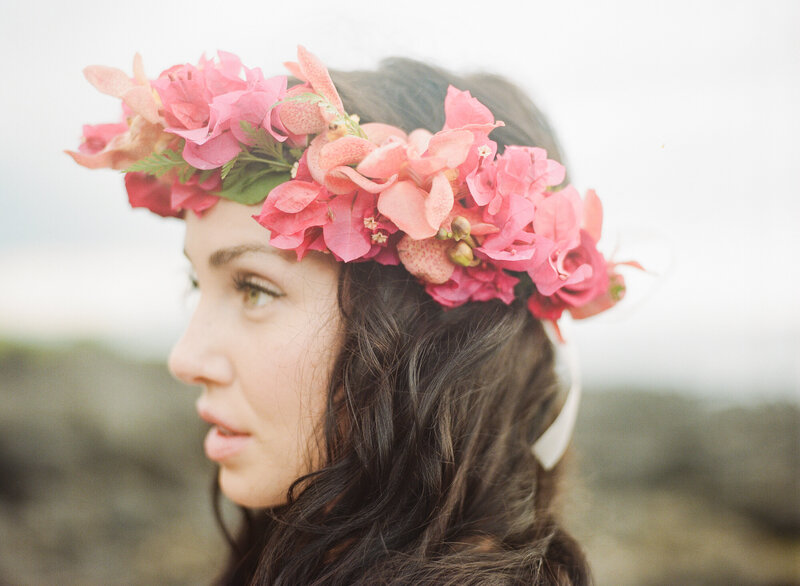 Tropical-coral- orchid-crown-hawaii-hair-flowers