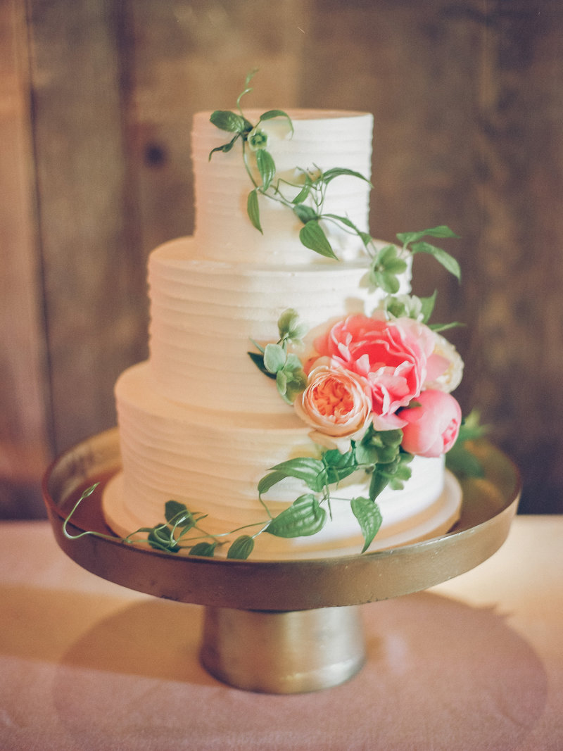 Cake for wedding by Jenny Schneider Events at Olympia's Valley Estate in Petaluma, California. Photo by Lori Paladino Photography.