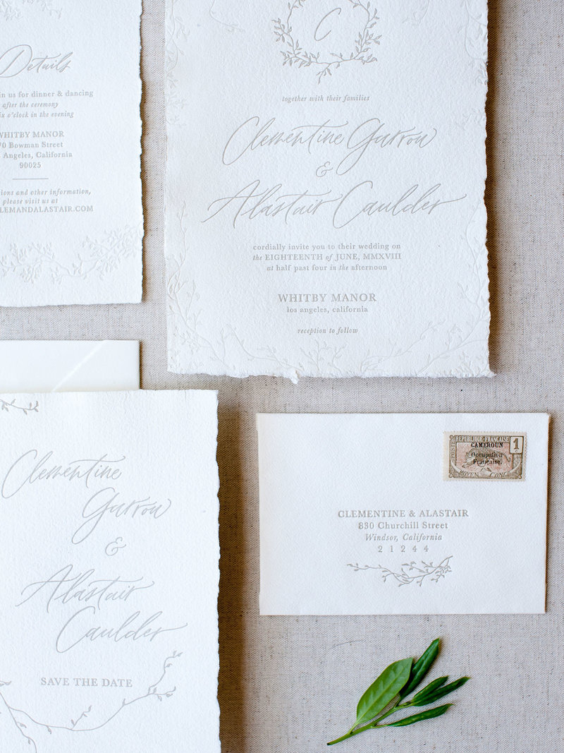 Semi-Custom Invitation Collection - Cascading Beauty 4-Piece Suite Closeup 2