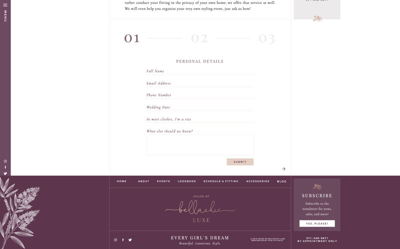 Handcrafting Heartfelt Brand & Website Designs for Female Creatives |  Showit | Showit Templates | by Viva la Violet | House of BellaChic Luxe