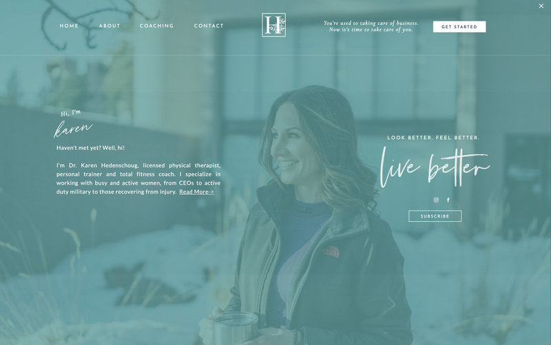 Handcrafting Heartfelt Brand & Website Designs for Female Creatives |  Showit | Showit Templates | by Viva la Violet | Hedenschoug Strength & Conditioning