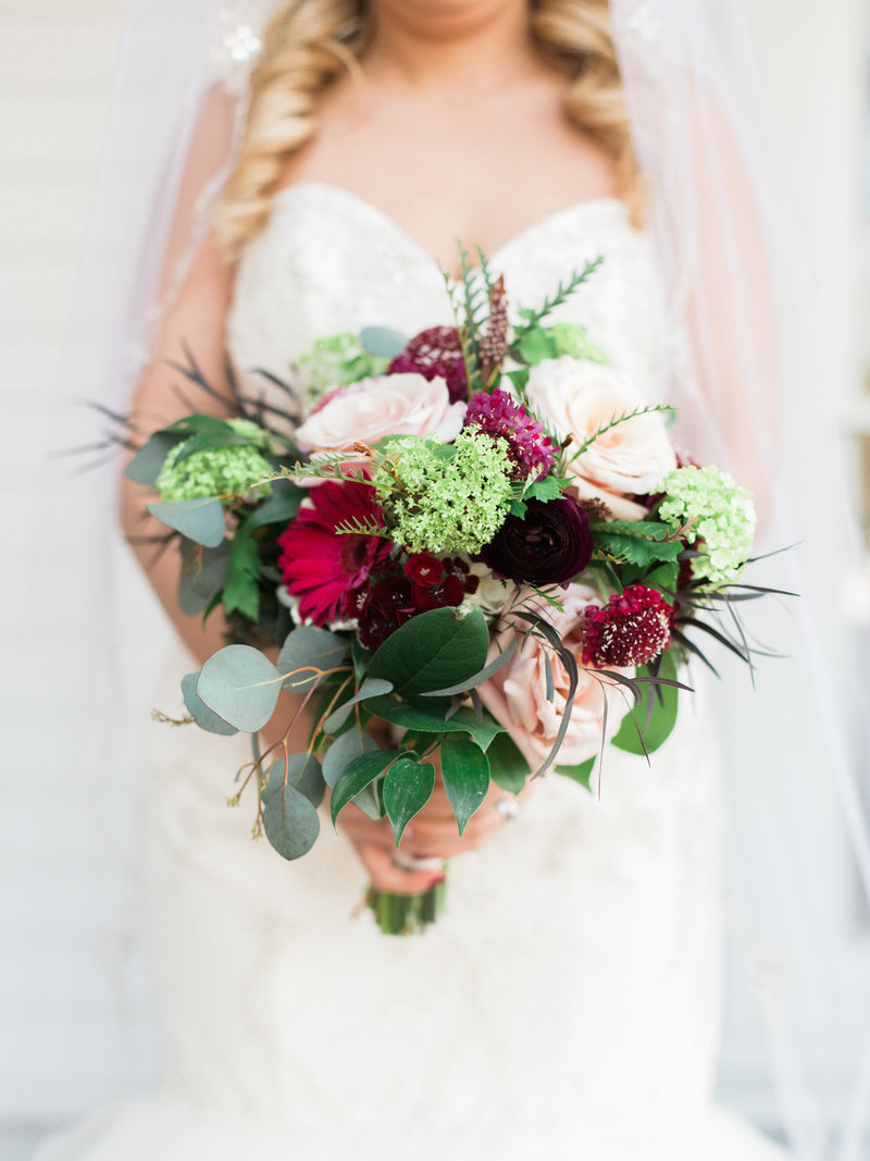 burgundy blush wedding