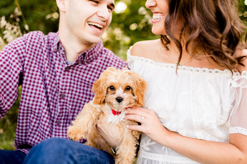 Couple with doodle puppy at comlara park
