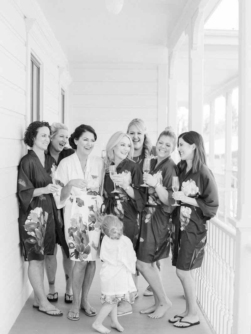 Bridesmaids for wedding by Jenny Schneider Events at Olympia's Valley Estate in Petaluma, California. Photo by Lori Paladino Photography.