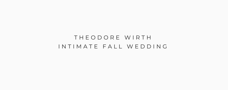 THEODORE WIRTH INTIMATE FALL WEDDING