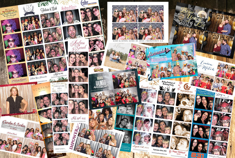 a variety of photo booth print layouts