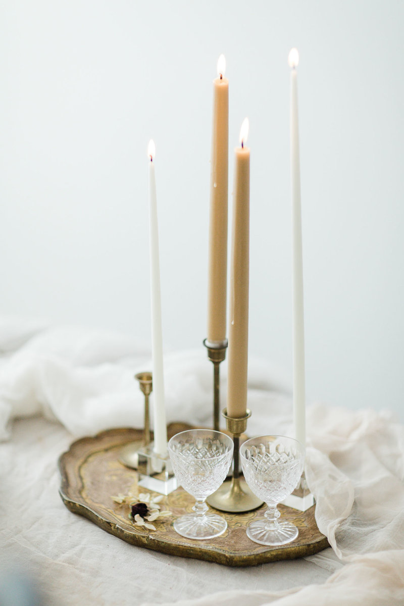 taper-candles-florentine-tray-hawaii- weddings